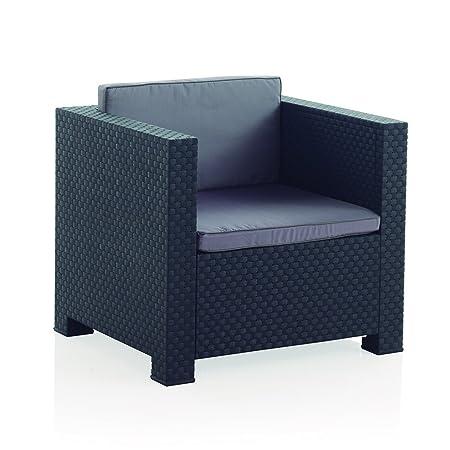 Conjunto muebles 2 plazas Jardín / Terraza, color antracita - Shaf Diva