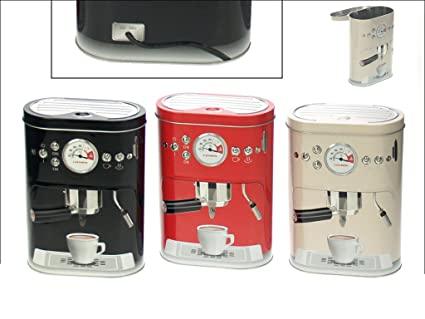 Metal Coffee Pod Storage Canister   Cream