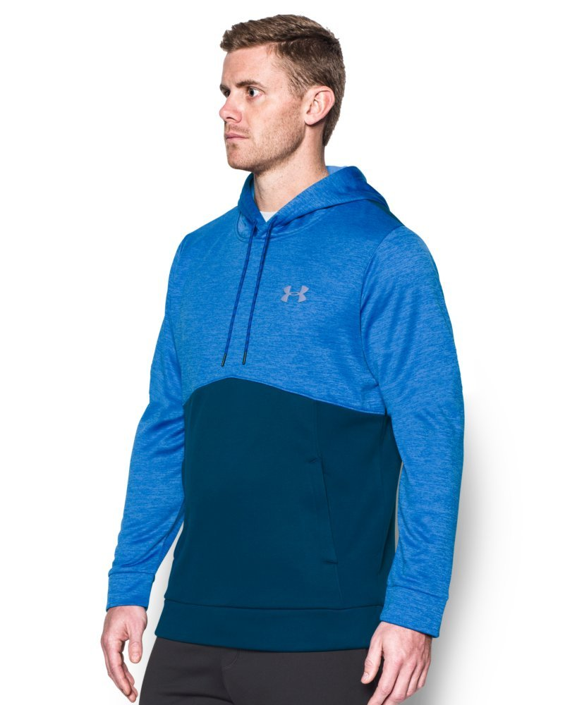 Under Armour Men's Storm Armour Fleece Twist Hoodie, Blackout Navy /Steel, Small by Under Armour (Image #3)