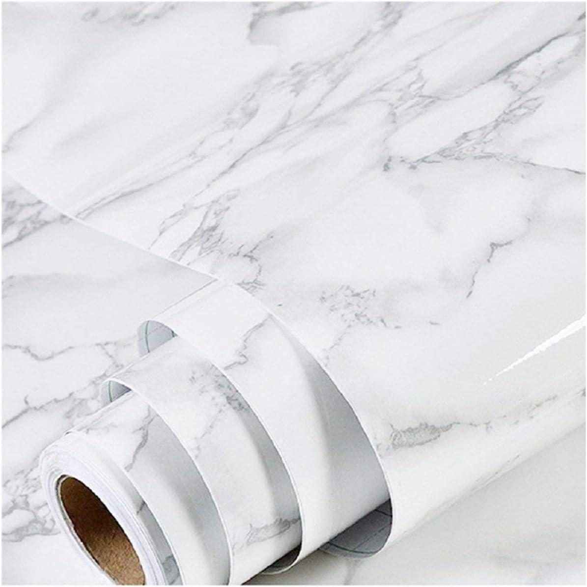 Papel autoadhesivas y extraíbles en rollo 45x200cm-Marmol