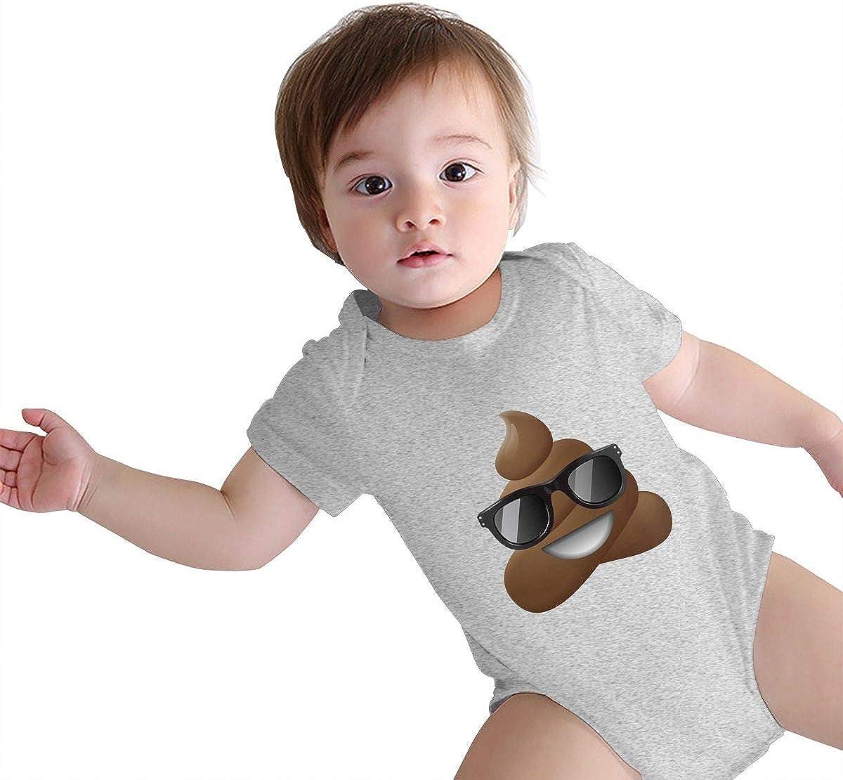 MOCSTONE Smiling Faces Poop Unisex Baby Bodysuit Infant Short Sleeve Outfits