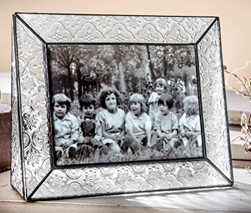 J Devlin Pic 126-57H Stained Glass 5x7 Picture Frame Table Top Photo Frame Vintage Home Decor Keepsake Gift Desktop