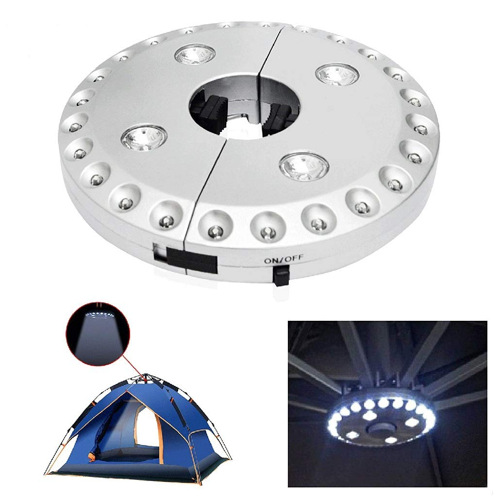 LAMPSJN Parasol LED Light 3 Level Dimming Switch 28 LED Camping Tents Patio Umbrella Pole Light Best for Garden Outdoor Use Patio Umbrella (Size : OneSize) by LAMPSJN