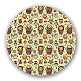 Owl Love Music Very Much Lazy Susan: Large, Black Melamine Turntable Kitchen Storage Custom Printed
