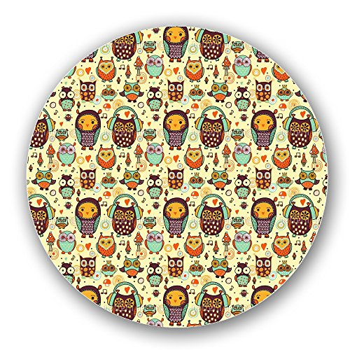 Owl Love Music Very Much Lazy Susan: Large, Black Melamine Turntable Kitchen Storage Custom Printed by uneekee