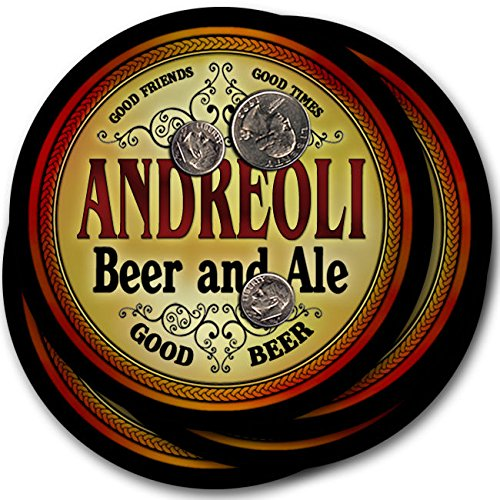Andreoliビール& Ale – 4パックドリンクコースター   B003QX4MFW