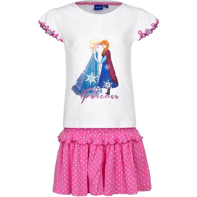 Disney Frozen Niñas Camiseta + Falda: Amazon.es: Ropa y accesorios
