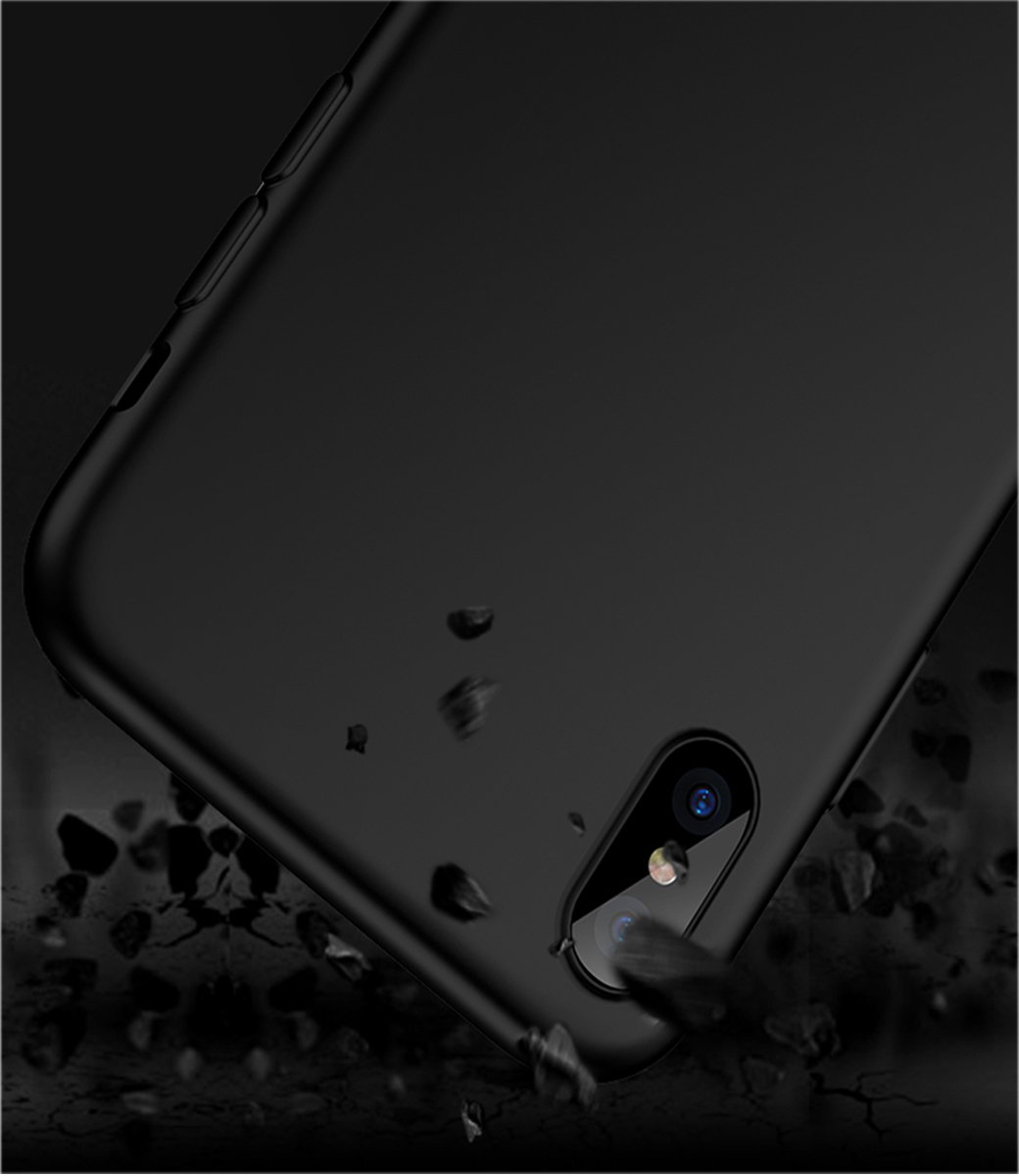 iPhone X Case, Scratch Resistant and Shock Absorption Protective iPhone Case, Slim Cell Phone Cover for iPhone X (Black)