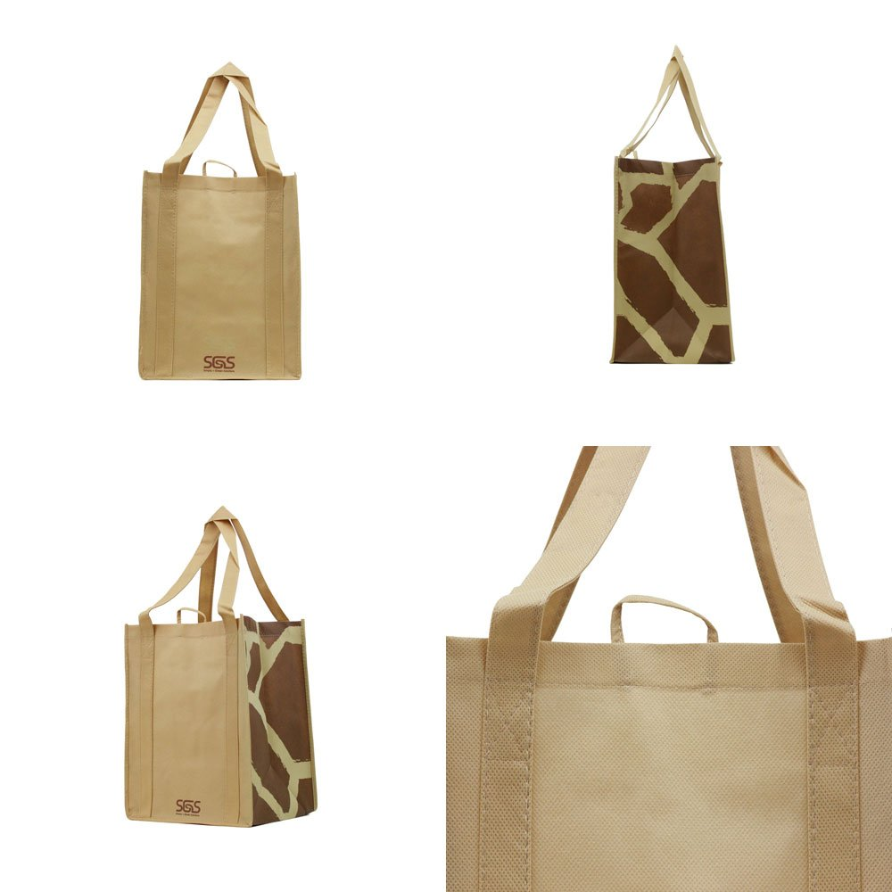 Animal - Graphic Pattern Prints - Reusable Reinforced Tote Bags - Set of 4 by Simply Green Solutions (Image #4)