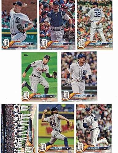 Detroit Tigers / Complete 2018 Topps Series 1 & 2 Baseball 15 Card Team Set! PLUS 2017 Topps Series 1 & 2 Tigers Team Set!