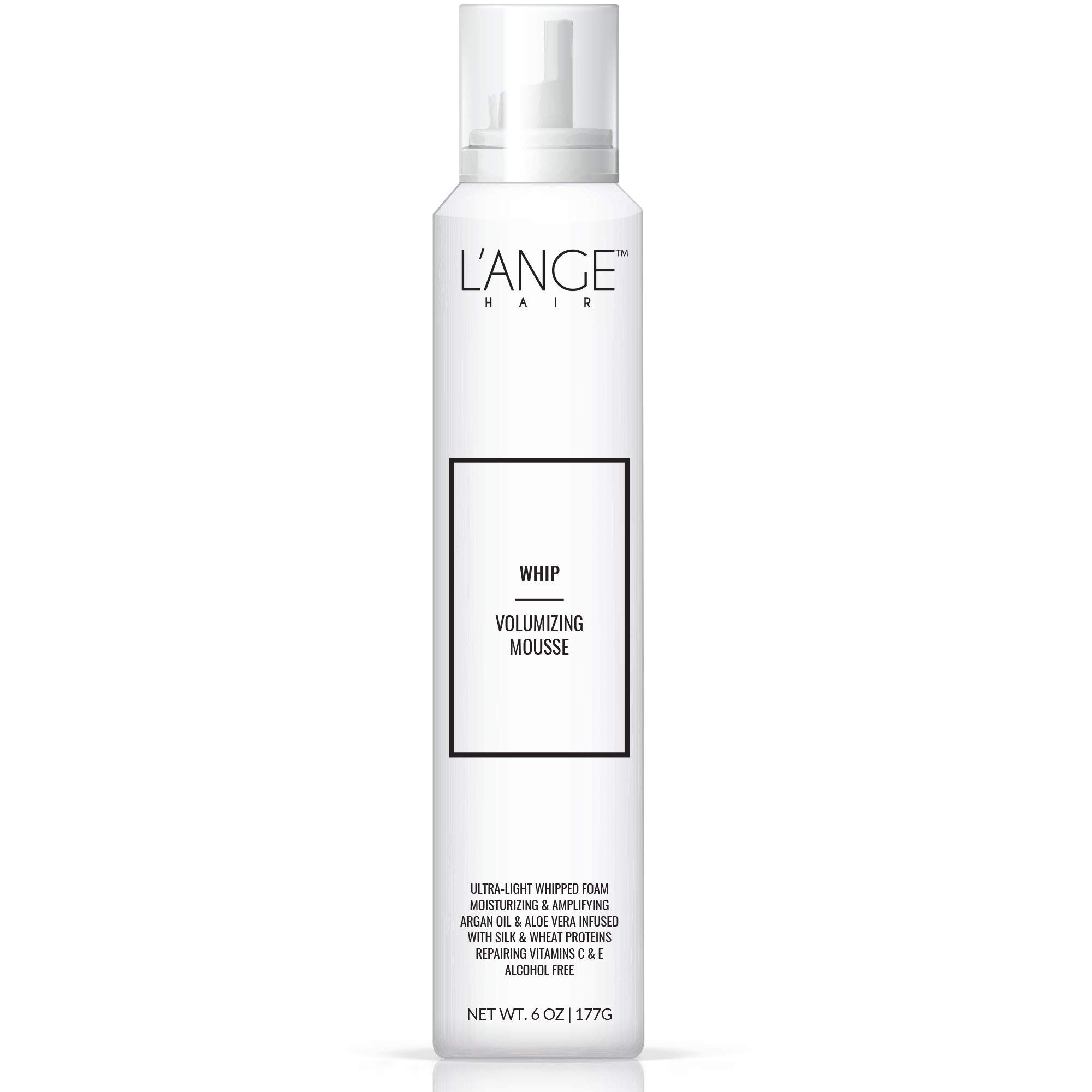 L'ange Hair WHIP Volumizing Mousse - Big Volume Natural Hair Thickening Foam Mousse for Women, Men, Girls with Argan Oil & Aloe Vera, Professional Texture Hair Styling Foaming Mousse - 6 Oz, MSRP $30