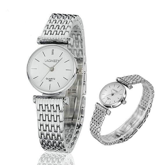 Mujer Marcas Reloj Lagmeey Relojes al por mayor de cuarzo mecánico WRIS Descuento: Amazon.es: Relojes