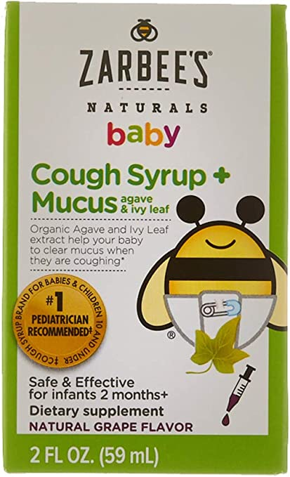 Zarbee's Naturals Baby Cough Syrup + Mucus for any variety, any size.