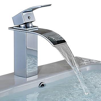 Badezimmer armatur  Auralum® Elegant Einhebel Mischbatterie Wasserhahn Armatur ...