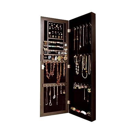 Amazoncom GLS Brown WallDoor Mount Cabinet Wooden Mirror Jewelry