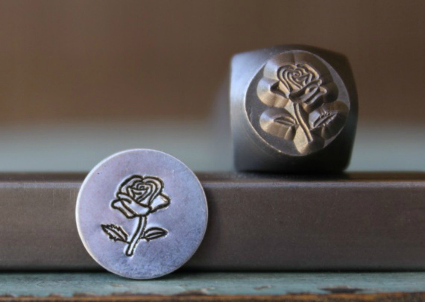 Brand New 8mm Rose Flower Metal Punch Design Stamp - Supply Guy - CH-162 SGCH-148