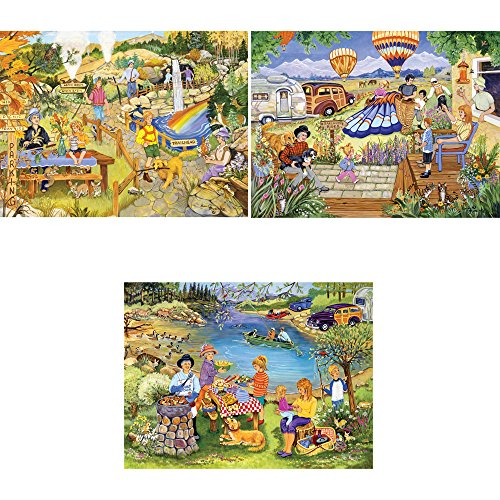 Bits and Pieces Set of Three  500 Piece Jigsaw Puzzles for A