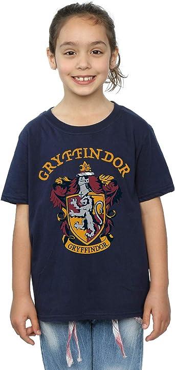 Harry Potter Niñas Gryffindor Crest Camiseta: Amazon.es: Ropa y accesorios