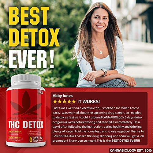 THC Detox Made in USA - BIO-Cleanse - Liver Detox, Urinary Tract & Kidney Cleanse - 5 Day Detox - Broad-Spectrum Toxin Cleanse - Natural THC Remover - Milk Thistle, Cranberry - Vegetarian Capsules by Cannabiology Est. 2016 (Image #7)