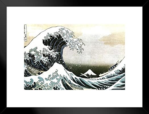 The Great Wave of Kanagawa Katsushika Hokusai Japanese Art Print Wall Decor Ocean Waves Off Painting Replica