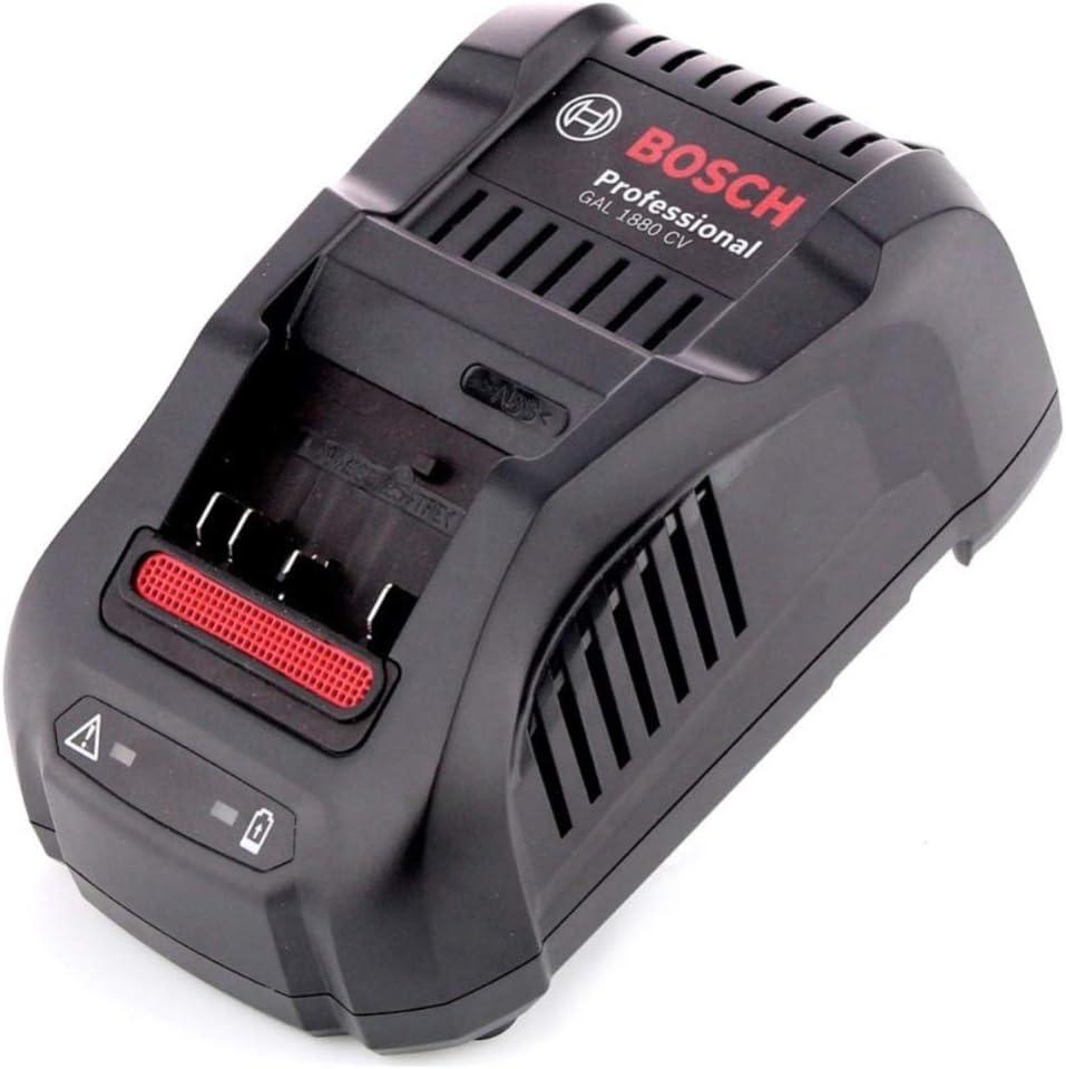 Bosch Cargador rápido GAL 1880 CV Professional para Baterías de Anclaje Deslizante 14,4V-18V Original