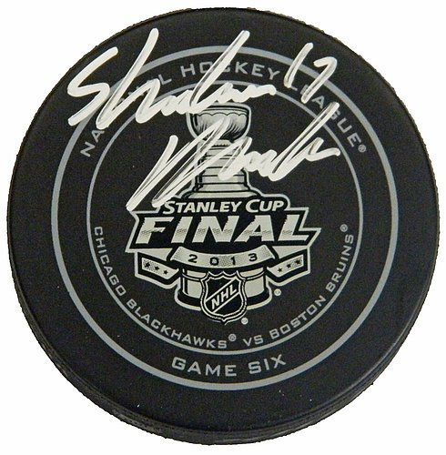 Sheldon Brookbank Autographed Official 2013 Stanley Cup Finals Game Six Hockey Puck - Signed Hockey Collectibles