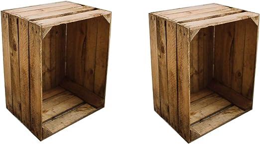 Teramico Caja de Madera Caja de Manzana Fruta (cajón-estantería ...