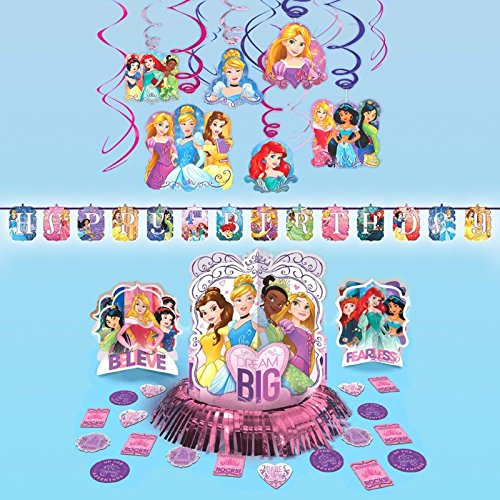 Sleeping Beauty Party Supplies (Disney Princess Dream Big Hanging Childrens Birthday Party Pack Decoration Kit)