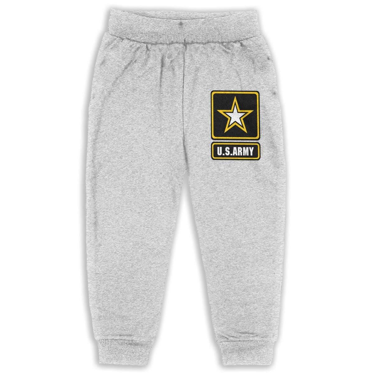 Never-Cold Us Army Star Boys Sweatpants Elastic Waist Pants for 2T-6T