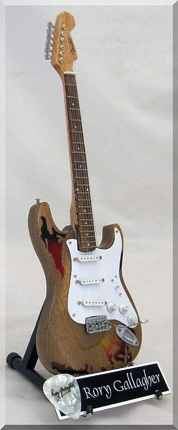 RORY GALLAGHER Guitarra miniatura con púa de guitarra: Amazon.es ...