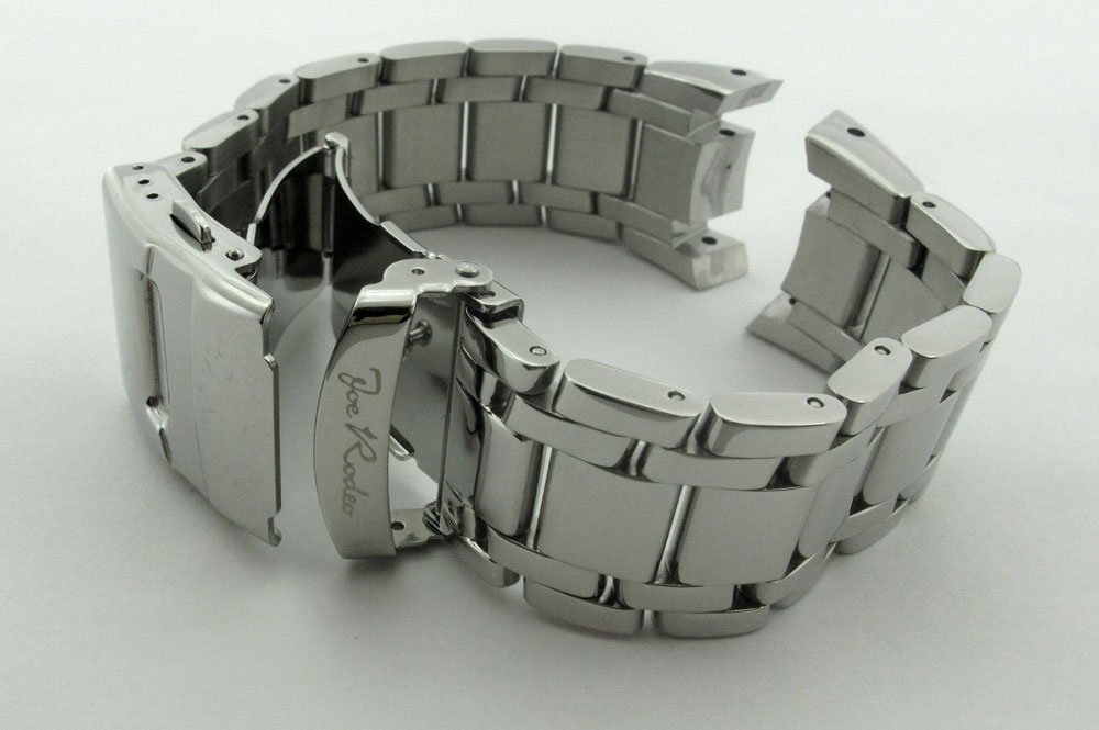 Joe Rodeo Master 24mm silver color stainless steel watch band