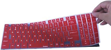 CaseBuy - Funda de silicona para teclado Toshiba Satellite C50-B C50D-B C50T-B C55-B C55T-B C55D-B C70-B C70D-B C75-B C75D-B (compatible solo con ...