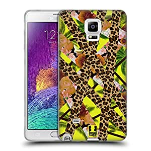 Head Case Designs Tropical Leopard Trend Mix Soft Gel Back Case Cover for Samsung Galaxy Note 4