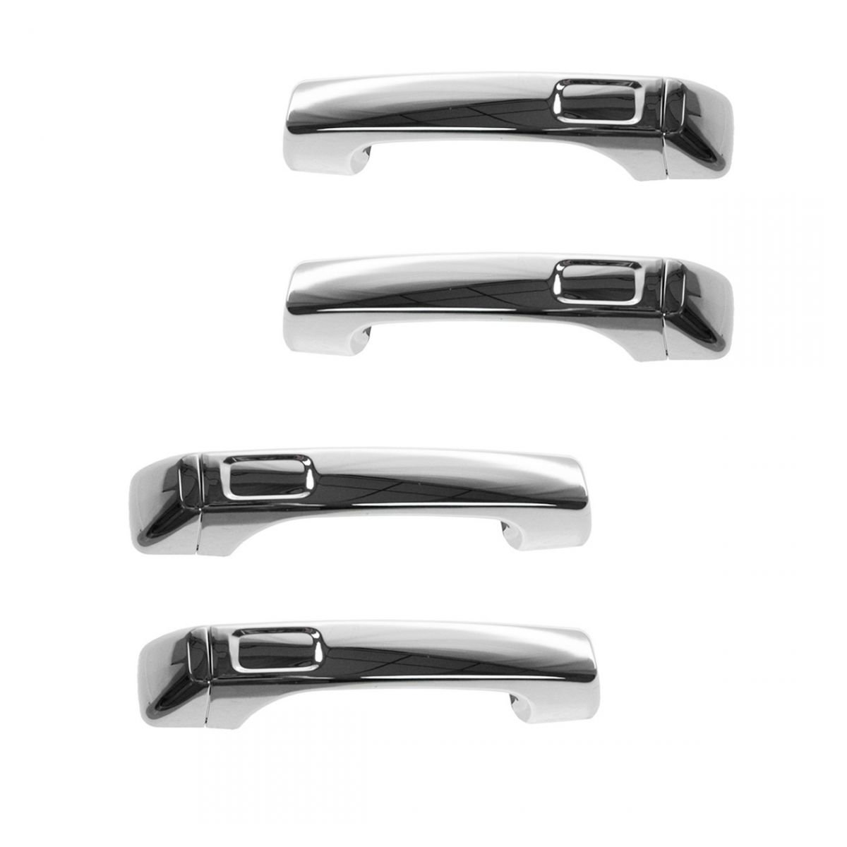 Exterior Door Handle For 2006-2010 Hummer H3 Set of 4 Front /& Rear Chrome