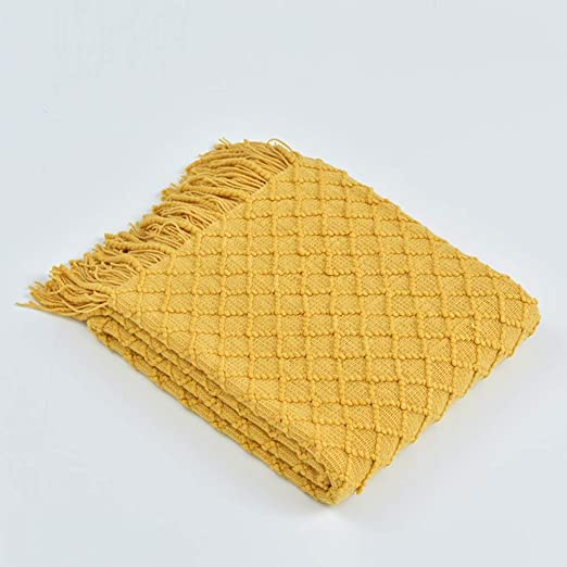 Nbibsaacy Manta de algodón 100% Natural, Ideal para Uso en sofá ...