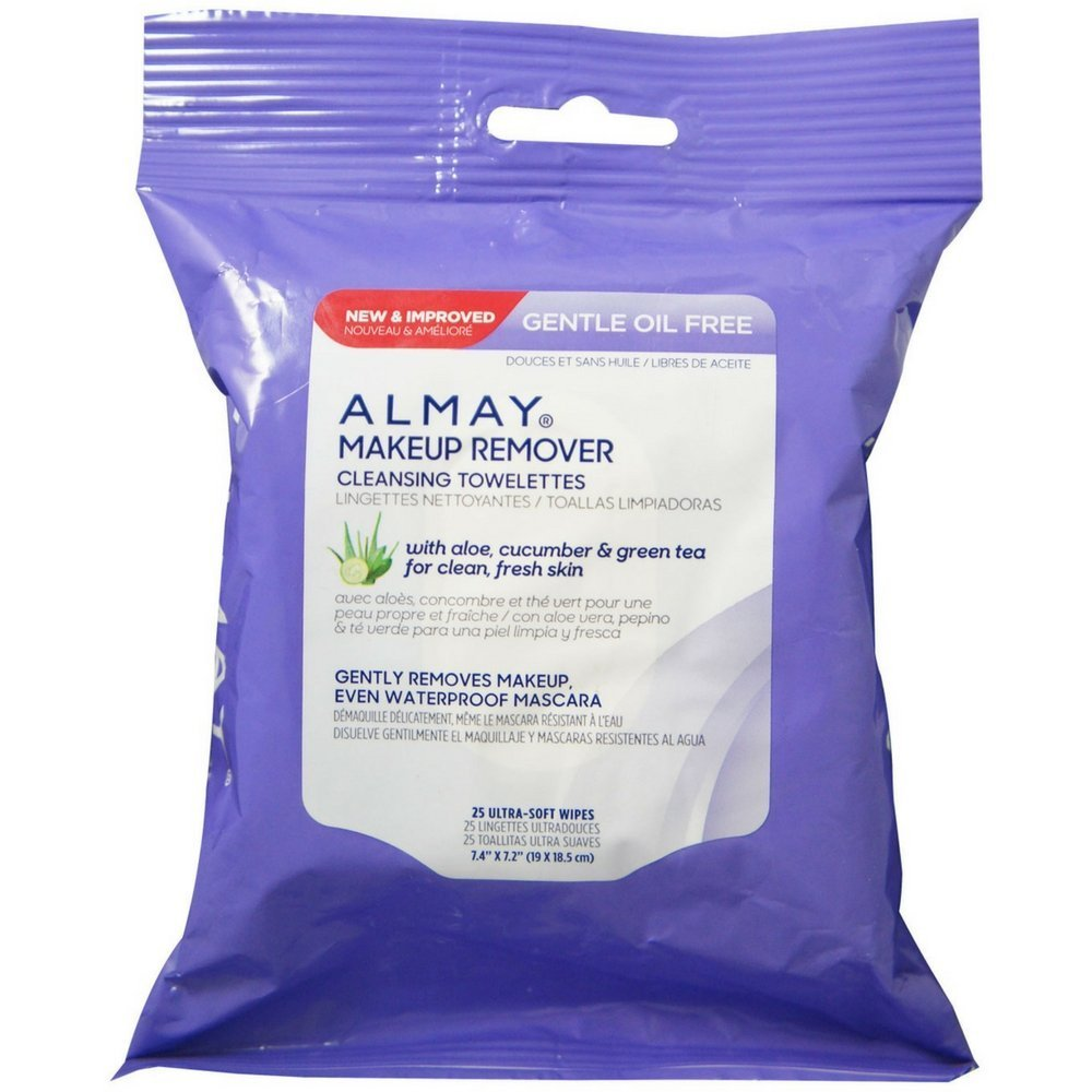 Almay Makeup Remover Cleansing Towelettes, Oil-Free 25 ea (Pack of 4)