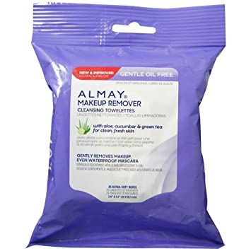 Almay Makeup Remover Towelettes, Oil-Free 25 ea (Pack of 2) Convatec Aloe Vesta Moisturizer - 324804CS - 4 oz., 48 Bottle / Case