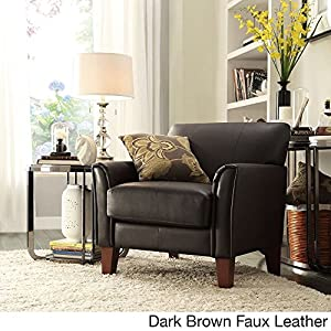 Lovely TRIBECCA HOME Furniture Uptown Modern Accent Chair Dark Brown Faux Leather