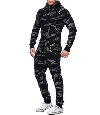 e29b509d6da Violento - Ensemble Jogging Camouflage Militaire Survêtement 888 Noir -  Noir  Amazon.fr  Vêtements et accessoires