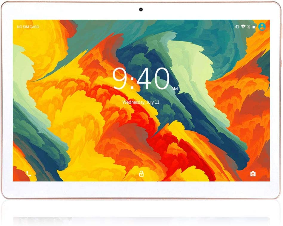 Tablet 10 Pulgadas 4G LTE WIFI BEISTA,Android 9.0 tableta,4GB RAM 64GB ROM,Quad-core,Full HD display,GPS,Bluetooth,OTG(Blanco)