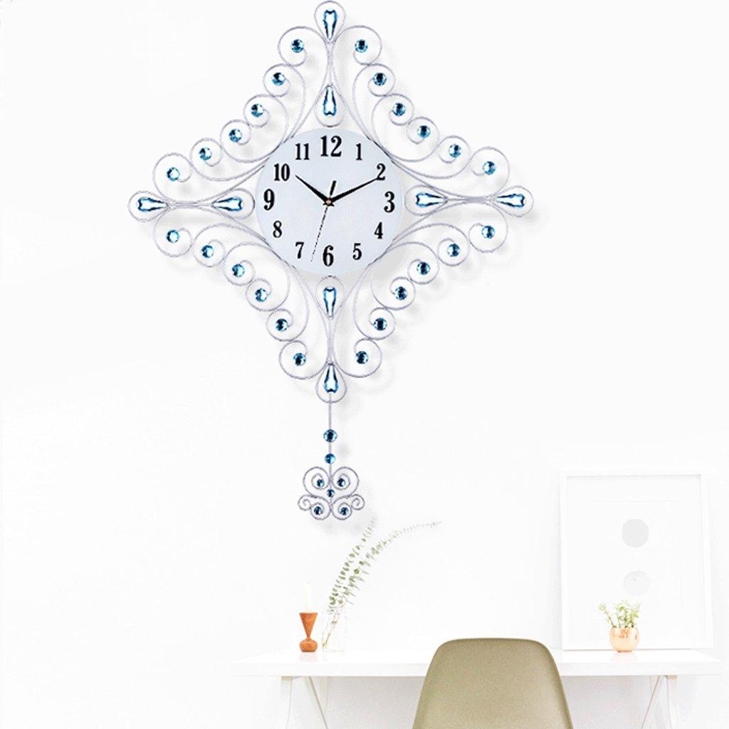 ファッションクォーツ時計の壁時計の居間のシンプルな時計ヨーロッパクリエイティブ時計のミュートの寝室のベッドルーム20インチ (色 : A) B07DYKLKY9 A A