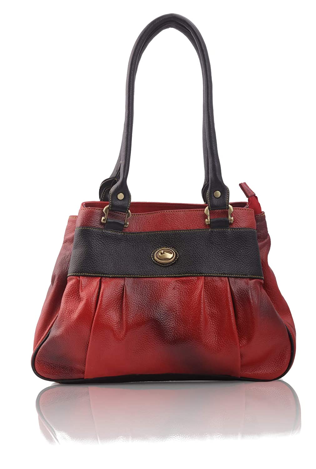 GenWayne stylish leather handbags for women cum shoulderbag (pure leather  bag) (Red)  Amazon.in  Shoes   Handbags