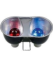 Zoo Med Combo Deep Dome Dual Lamp Fixture Soutien d'Ampoule pour Reptile/Amphibien