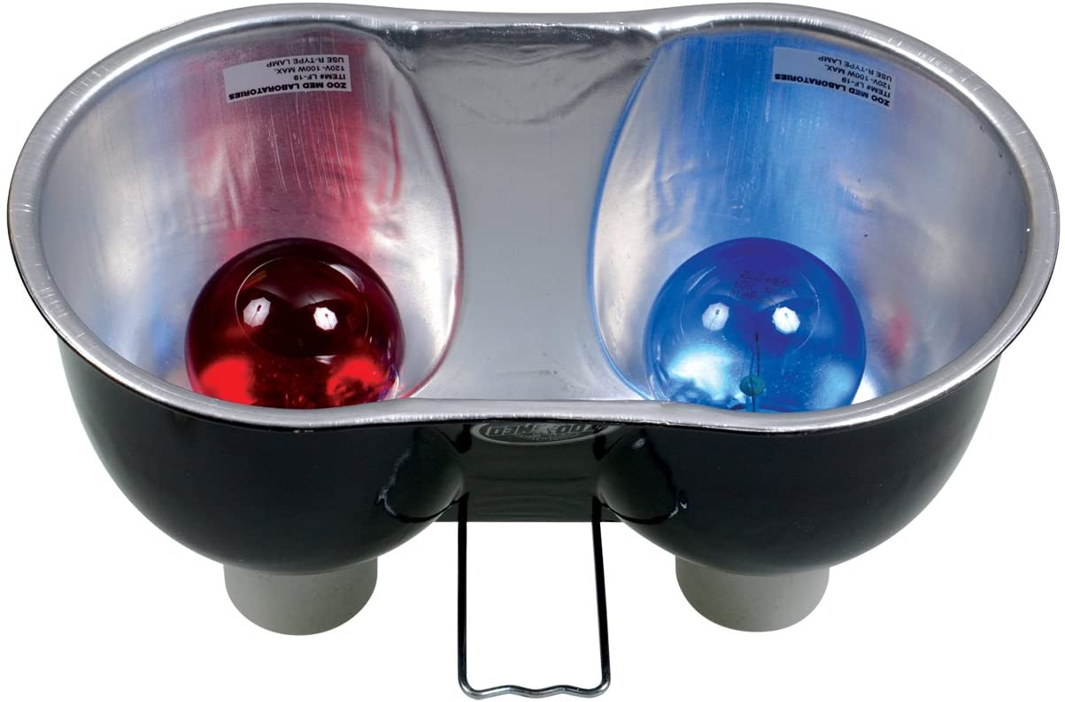 Zoo Med Combo Deep Dome Dual Lamp Fixture