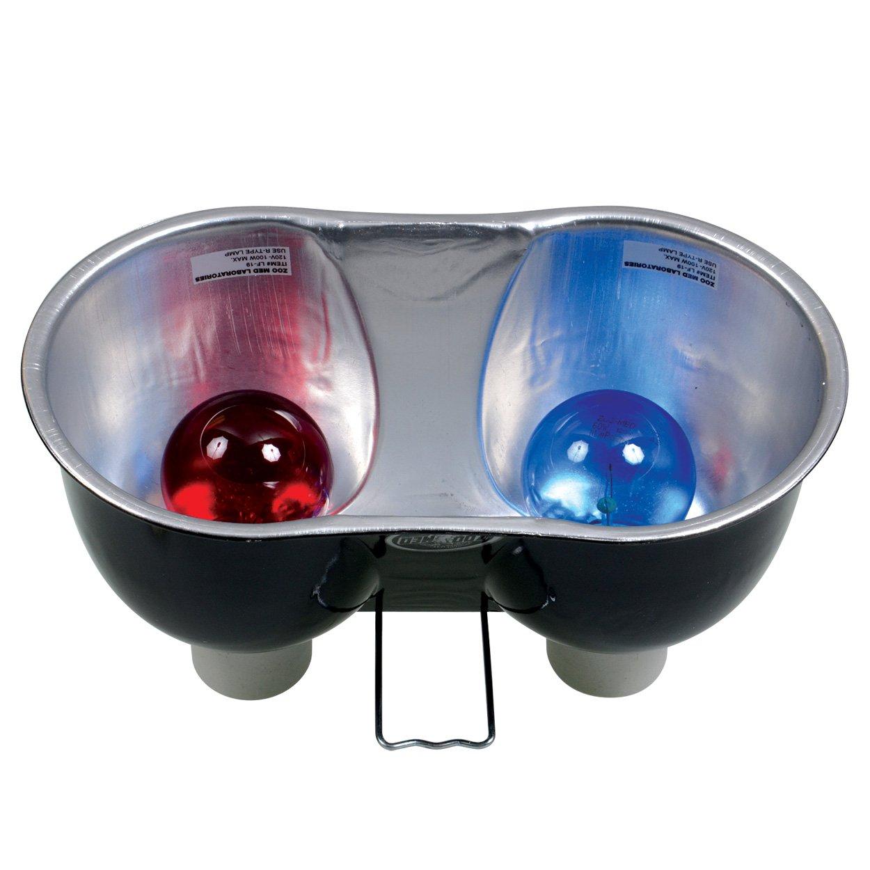 Zoo Med Combo Deep Dome Dual Lamp Fixture Soutien d'Ampoule pour Reptile/Amphibien Zoomed LF25