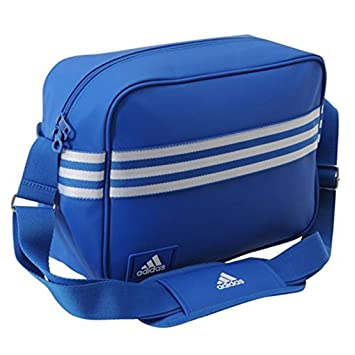 8d0c1e5c4d Adidas Enamel Messenger Bag - Blue.  Amazon.co.uk  Luggage