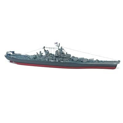USS Wisconsin BB-64 Plastic Model Kit Big Battleship 1/535 Atlantis: Toys & Games