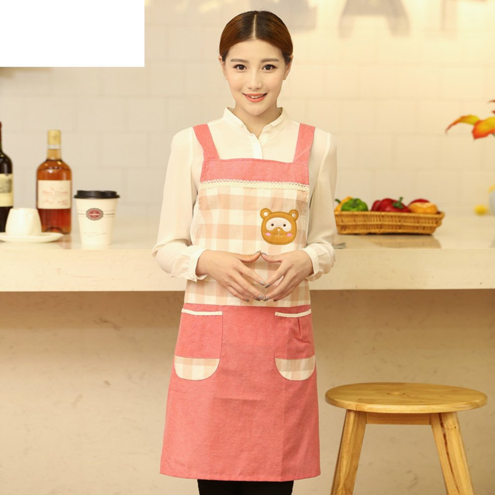 DXG&FX kitchen apron working apron Home cotton aprons-B