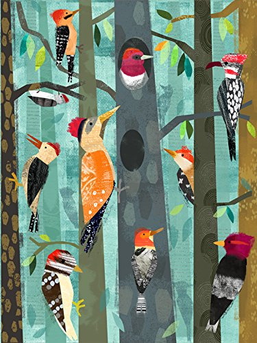 Oopsy Daisy Fine Art for Kids Woodpeckers Canvas Wall Art by Amy Schimler Safford, 18 x 24""