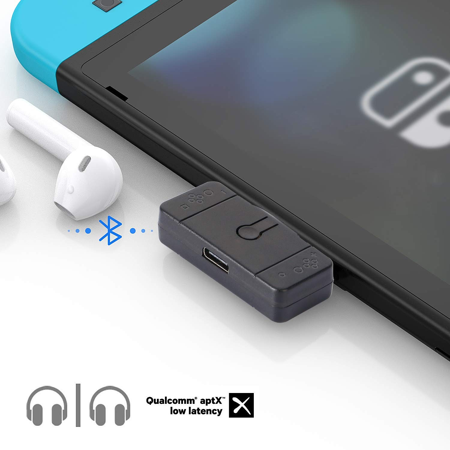 Amazon Com Railay Bluetooth Adapter Audio Transmitter For Nintendo Switch Lite Ps4 Pc Video Games